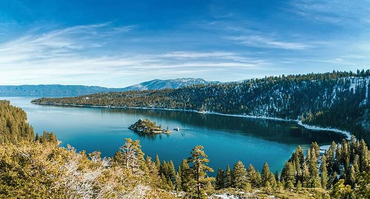 Emerald Bay in winter