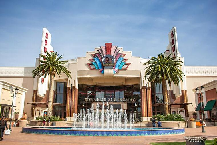 Entrance of Edwards Cinemas at the Irvine