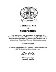 homestay provider certified by csiet