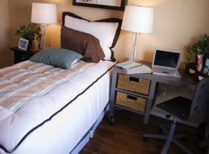 Foreign Student in California Bedroom