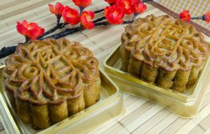 Mooncakes Made by Foreign Exchange Student
