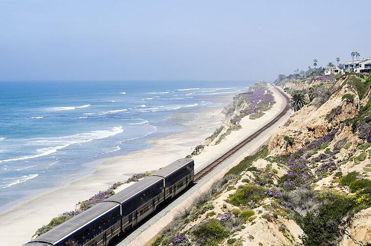 Train along San Diego Costline